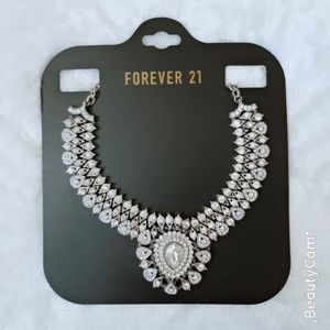 F21  silver necklace